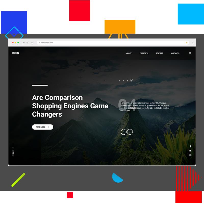 Prime Slider - Blog widget